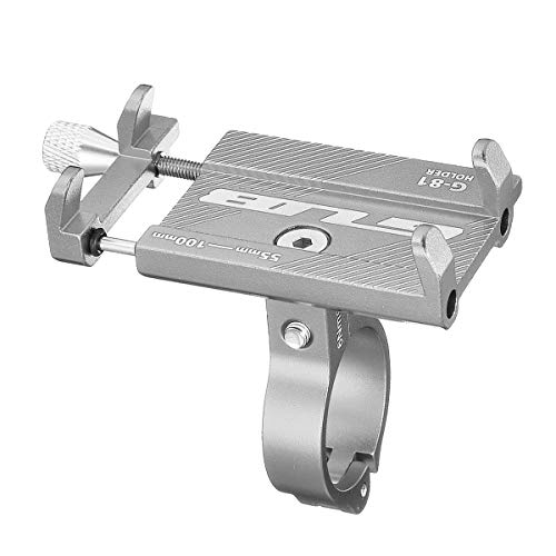 Wooya Einstellbare Handy Ständer Halter Aluminium Für E-Scooter Fahrrad Motorrad-Titan