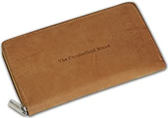CHESTERFIELD bILLY porte-monnaie portefeuille en cuir de veau pour femme beige