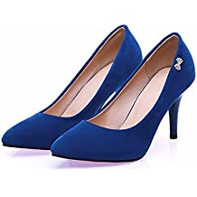 diseño popular vende precio al por mayor zapatos tacon tallas grandes - Azul - Amazon.es