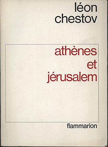 Athenes et jerusalem par Chestov Leon