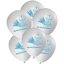 ocballoons® Globos Comunión Decoración Adornos Día Gas helio Party Celeste 25pz