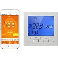 3A - Termostato caldera gas Termostato inteligente WIFI de pared controlado por smartphone APP Termostato programable digital calefaccion programador semanal 220V