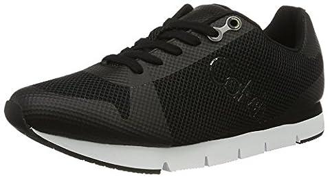Calvin Klein Jeans Herren Jacques Mesh/HF Low-Top, Schwarz (Blk), 43 EU (Calvin Klein Sneakers)