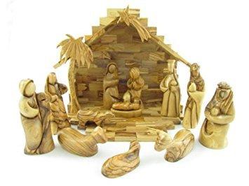 Nativitygiftshopdotcom presepe in legno d' ulivo, moderno 24,1cm in altezza