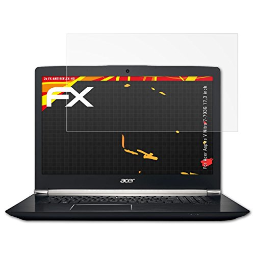 atFolix Schutzfolie kompatibel mit Acer Aspire V Nitro 7-793G 17,3 inch Bildschirmschutzfolie, HD-Entspiegelung FX Folie (2X)