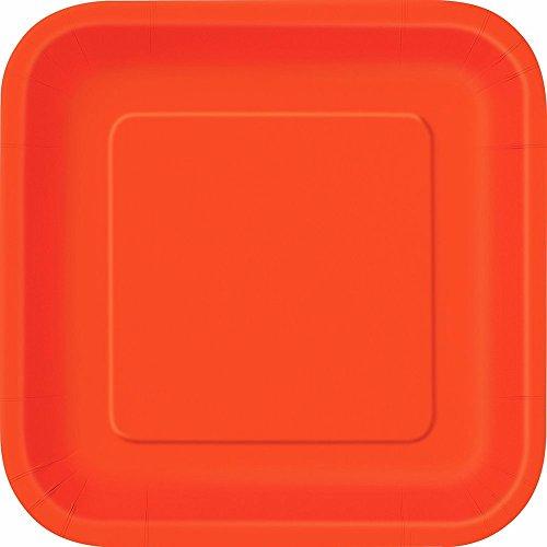 Accessoires D'ameublement Party Bleu Sous Carte 18 cm *23000 Assiettes Colorées-Orange