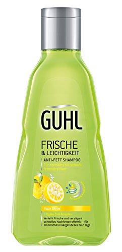 Guhl Frische und Leichtigkeit Anti-Fett-Shampoo - 2er Pack (2 x 250 ml) - mit Yuzu-Zitrus - für normales bis schnell fettendes Haar