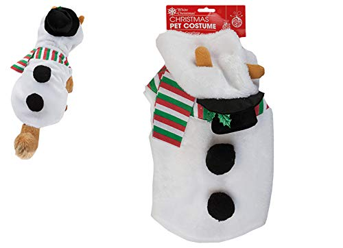 christmasshop Weihnachtskostüm Hund Plüsch Outfit - Schneemann oder Rentier - Snowman White (Rentier-outfit Für Hunde)