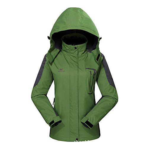6c66fca7df0bd GIVBRO Waterproof Jacket Womens Raincoat Ladies Rain Jacket- UPGRADED 2018  Outdoor  Hooded Softshell Camping Hiking Mountaineer Running Jackets