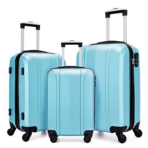 FOCHIER F Koffer-Set Blau hellblau 20'+24'+28'