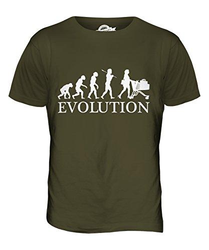 CandyMix Einkaufen Evolution Des Menschen Herren T Shirt Khaki Grün