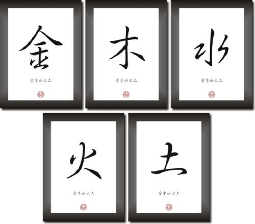 the-5-elements-of-feng-shui-wood-metals-water-earth-metal-in-chinese-japanese-calligraphy-font-as-pi