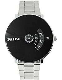 Star Villa Paidu Round Analogue Black Dial Men's Watch_ New Arrival Special Collection Black Round Black Dial...