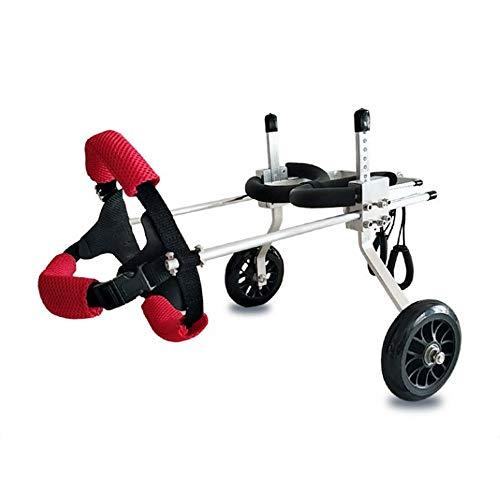 og Scooter, Behinderte Hund unterstützt Hinterbein Sportwagen, frei verstellbare Größe, große zusätzliche Halterung Rollstuhl gelähmt behinderten Hund (größe : L) ()