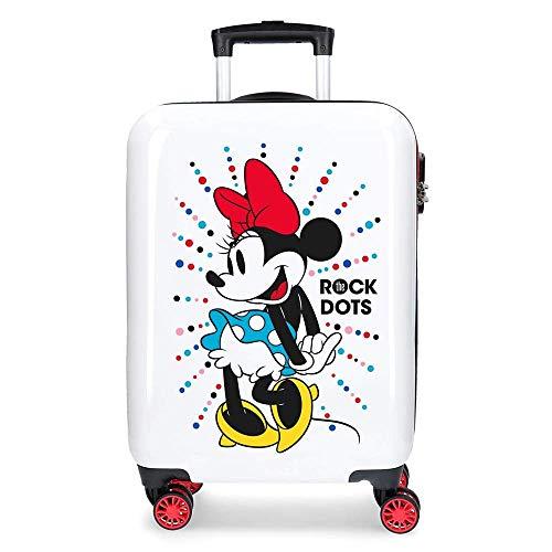 Trolley Minnie Disney da Viaggio CM. 55x40x20 Bianco Valigia in ABS - 3671765