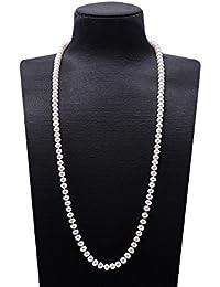 Collier de Perles d eau Douce cultivé Blanc JYX Classic à mi-Hauteur 16 ba18277ff54a