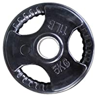 Skyland Rubber Gym Weight Plate, EM-9264 - 5 Kgs (Black)
