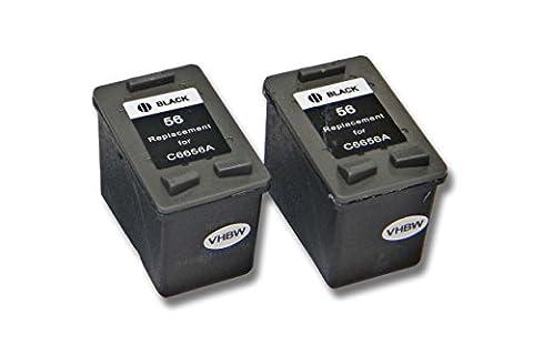 vhbw 2x kompatible Ersatz Tintenpatrone Druckerpatrone Set für Drucker HP PSC 1315s, 1317, 1340, 1350, 1355, 2105, 2108, 2110, 2115, 2171, 2175, 2179