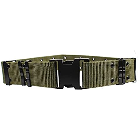 ALAIX - Cinturón para hombre de nailon y estilo militar con correa ajustable de 5,5 cm y hebilla de