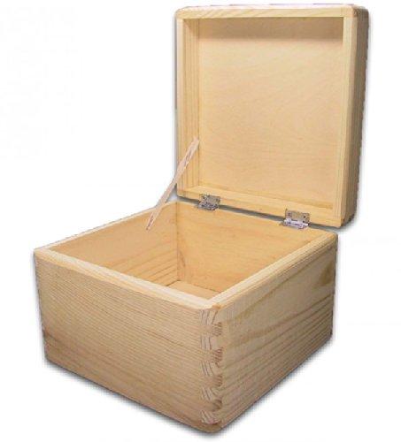 MidaCreativ quadratische Aufbewahrungsbox/Holzkiste CUBE, Kiefer unbehandelt (Quadratische Aufbewahrungsbox)