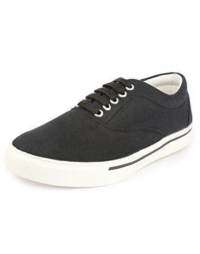 Do Bhai Van-105 Sneakers for Men (UK8, Black)