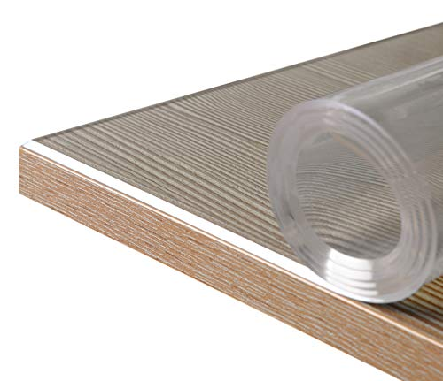 BEAUTEX Glasklar Folie 2 mm + abgeschrägte Kante, transparente Tischdecke Tischschutz, Made in Germany, Wuschmaß, Größe wählbar (Breite 100 cm x Länge: 200 cm)