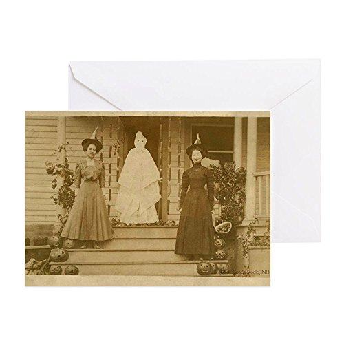 CafePress - Vintage Halloween Foto Hexen - Grußkarte, Notizkarte, Geburtstagskarte, blanko Innenseite glänzend