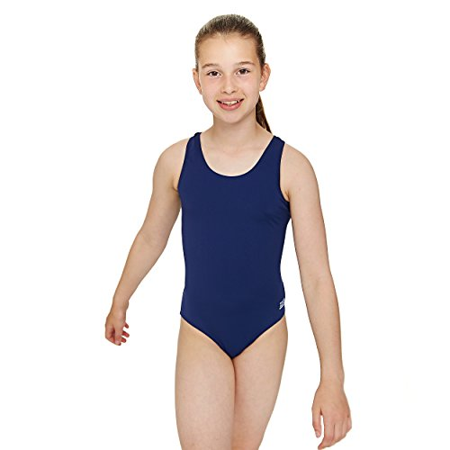 Zoggs Girls Cottesloe Sportsback Swimming Costume, Polyester - Navy, 12-13 Years Children