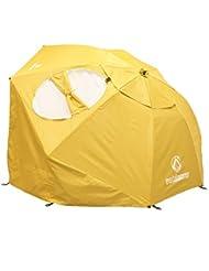 outdoorer Sombrello gelb - Der Sonnenschirm zum Legen als Schirmzelt für den Strand mit UV 80 Lichtschutzfaktor