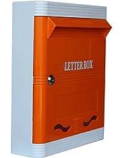 Lamba's Wall Mounted Plastic Letter Box (Standard Size, Orange)