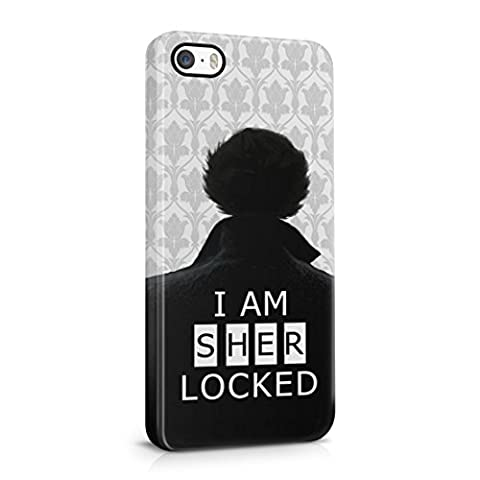 Sherlock Holmes I Am Sherlocked iPhone 5 / 5S Hard Plastic Phone Case Cover