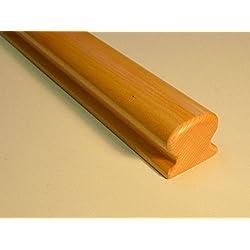 Pasamanos - 55 x 50 x 2,000 mm - madera de haya barnizado - forma de Omega