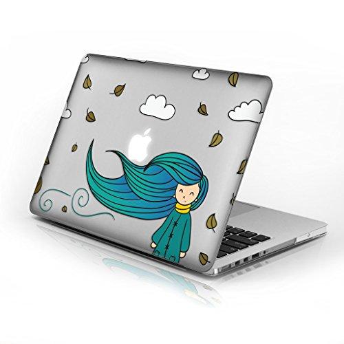 für MacBook Air 33cm Modellnummer A1369und A1466, Series 5Design mit klarer Boden Fall, kommen mit Tastatur Cover Autumn Girl 33 cm (13 Zoll) ()