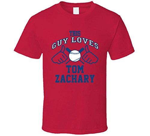 This Guy Loves Tom Zachary Atlanta Baseball Player Classic T Shirt Large (Zachary Baseball)