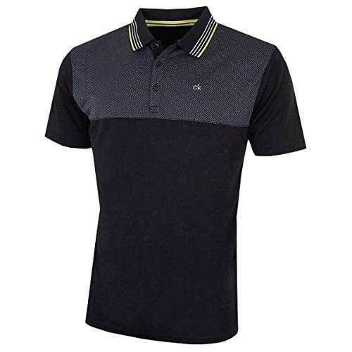 Calvin Klein Golf Mens 39ème Rue Polo - Noir/Lime - L