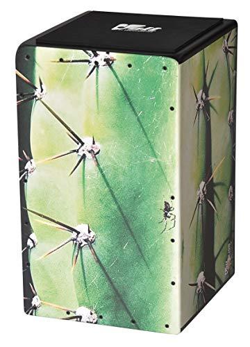 "VOLT Cool-Cajon ""Cactus Cube"" Design Percussion (Cajon Set inkl. Lernbuch Cajon-Schule Cajon Basics + CD & Seatpad, Größe:L) geeignet ab 8 Jahren"