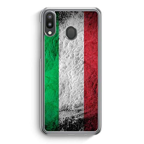 Italien Splash Flagge Italia Italy - Hülle für Samsung Galaxy M20 - Motiv Design Italienisch - Cover Hardcase Handyhülle Schutzhülle Case Schale Flagge Cover