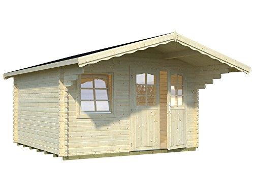 Palmako Blockbohlenhaus Sally 12,3 44 mm natur Isolierglas