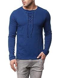 Gritstones Indigo Full Sleeve Round Neck T Shirt GSFSTSHT1282IND