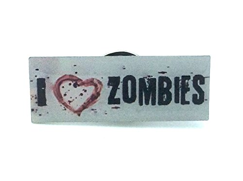 I ♥ Zombies Cosplay Metal Pin Badge
