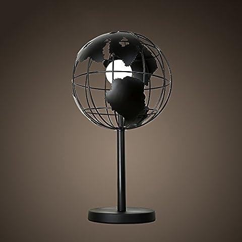 Creación Artística simple lámpara de mesa, personalizada Salón Dormitorio Estudio Bar lámpara de mesa, Negro Globo decoración de la tabla de la