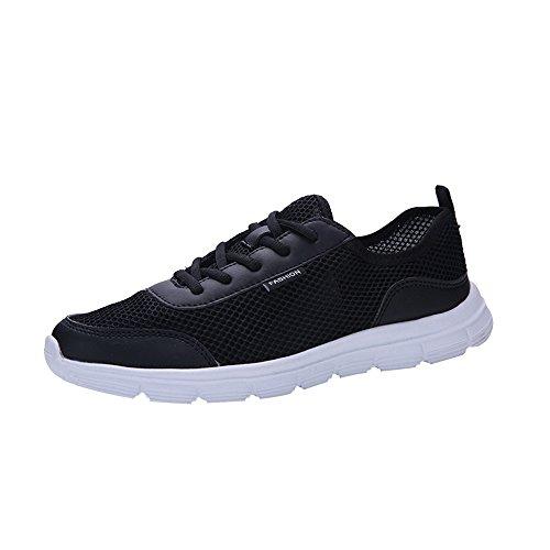 HUYURI Scarpe da Ginnastica Sneakers Traspiranti con Lacci da Corsa