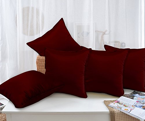 Story @ Home Maroon Designer Digital Print Cushion Cover set of 5 Pcs