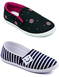 ASIAN Women's Denim Casual Shoes Combo Pack of 2