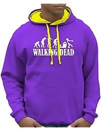 Coole-Fun-T-Shirts Herren Sweatshirt Walking Dead - Zombie Evolution - Bico