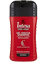 Intesa Pour Homme Gel Doccia Shampoo, Rivitalizzante, Idratazione Quotidiana, Ginseng - 250 ml