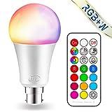 iLC Ampoule Led Couleur Changement de couleur Ampoule 10W Baïonnette B22 RGBW...