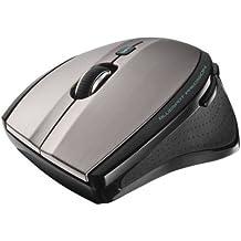 Trust MaxTrack - Mini ratón inalámbrico con tecnología BlueSpot, gris y negro