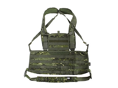 BE-X Modulares Chestrig / Kampfmittelträger MOLLE / Chest Harness - multicam tropic