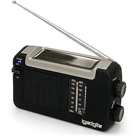Radio Camping - igadgitz Xtra Radio AM/FM Portable à Manivelle,